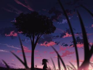 Alone Girl HD Shadow Art wallpaper