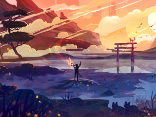 Alone Journey Art wallpaper