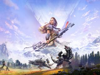 Aloy in Horizon Gam wallpaper