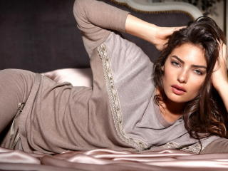 Alyssa Miller On Bed Photoshoot wallpaper