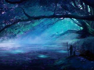 Amazing Fantasy Landscape Lake wallpaper