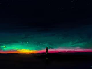Amazing Lighthouse Art wallpaper