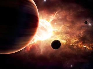 Amazing Planets in Space wallpaper