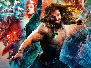Amber Heard as Mera and Jason Momoa as Aquaman wallpaper