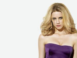 Amber Heard in purple dress wallpaper wallpaper