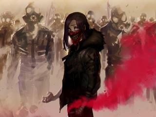 Anarchy Mask Girl 4Art wallpaper