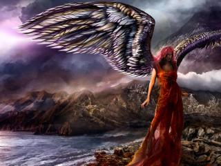 angel, girl, art wallpaper