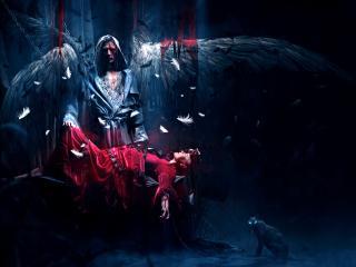 angel, victim, wings wallpaper