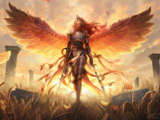 Angel Warrior Arrive wallpaper