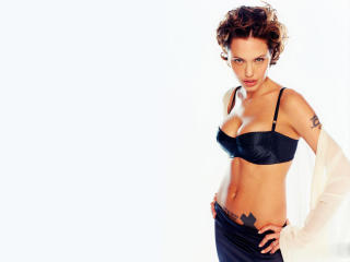 Angelina Jolie Hot Cleavage Pics wallpaper