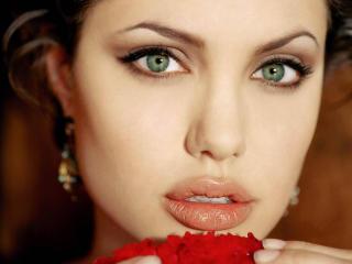 Angelina Jolie Sexy Lips wallpapers wallpaper