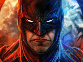 Angry Batman Face Art wallpaper