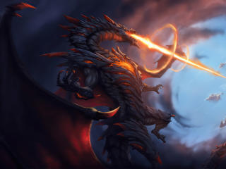 Angry Dragon 4K Art wallpaper