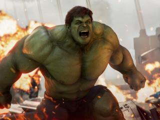 Angry Hulk Marvel's Avengers 4K wallpaper