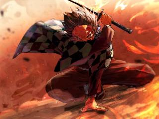 Angry Tanjirou Kamado wallpaper