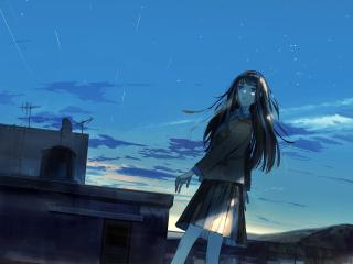 Anime Alone Girl wallpaper