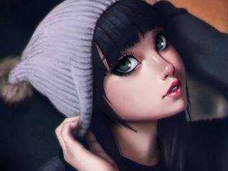 anime, girl, brunette wallpaper