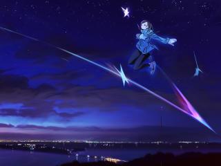 Anime Girl Flying wallpaper