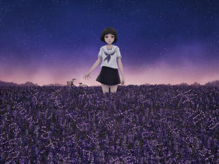 Anime Girl In Field wallpaper