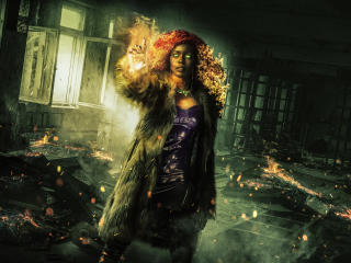Anna Diop as Starfire wallpaper