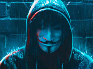 Anonymous 4K Hacker Mask wallpaper
