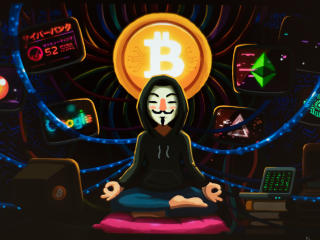 Anonymous Bitcoin wallpaper