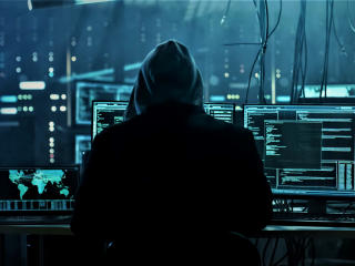 Anonymous Hacker Working wallpaper