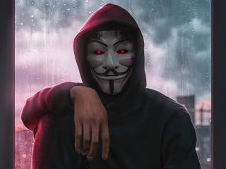 Anonymous Mask Man wallpaper