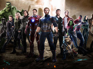 Ant-Man, Captain America, Hulk, Black Panther, Thor, Iron Man And Garden Of Galaxy Etc wallpaper