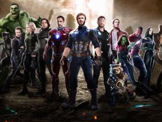 Ant-Man, Captain America, Hulk, Black Panther, Thor, Iron Man And Garden Of Galaxy Etc wallpaper