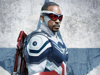 Anthony Mackie as Captain America wallpaper