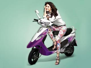 Anushka Sharma With Scooty  wallpaper