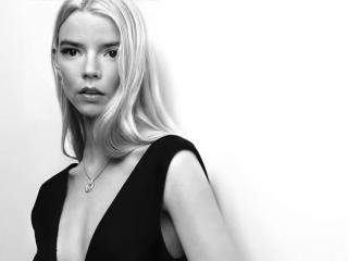 Anya Taylor-Joy New Black & White 2021 wallpaper