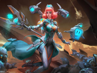 Aphrodite in Smite wallpaper