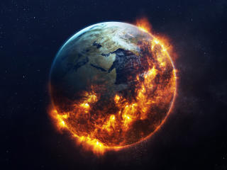 Apocalyptic Earth Art wallpaper
