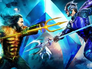 Aquaman And Ocean Master Fight wallpaper
