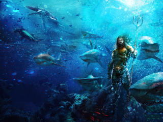 Aquaman In Ocean 4K wallpaper