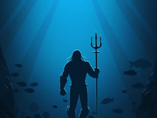 HD Wallpaper | Background Image Aquaman Minimalist Poster