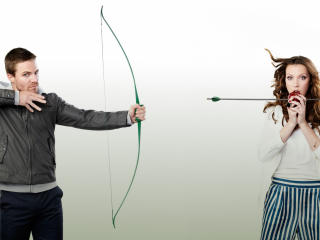 HD Wallpaper | Background Image arrow, stephen amell, katie cassidy