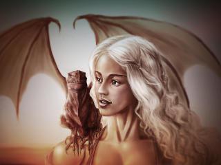 art, game of thrones, daenerys targaryen wallpaper