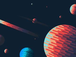 Artistic 4k Space wallpaper