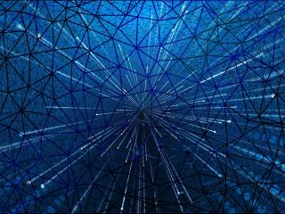 Artistic Blue Web wallpaper