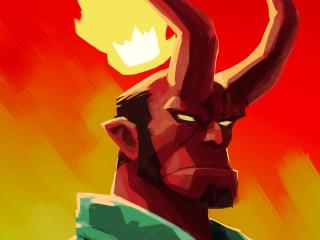 Artistic Hellboy wallpaper