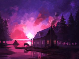 Artistic House wallpaper