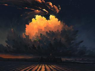 Artistic Night Landscape Art 2021 wallpaper