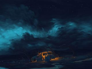 Artistic Night Out Digital wallpaper