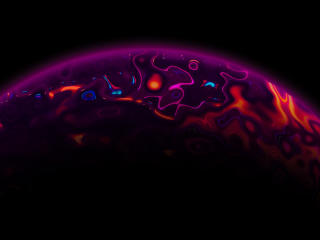 Artistic Purple Planet wallpaper