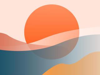 Artistic Shapes 4k Warm Colorful wallpaper
