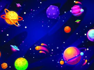 Artistic Space Planets wallpaper