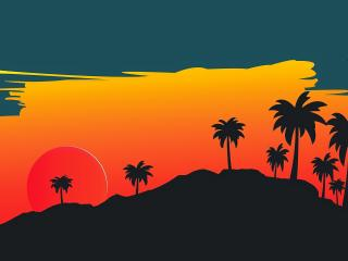 Artistic Sunset wallpaper